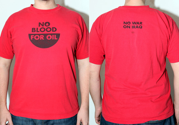 Iraq War Shirt Photo Credit: Jennifer Martin