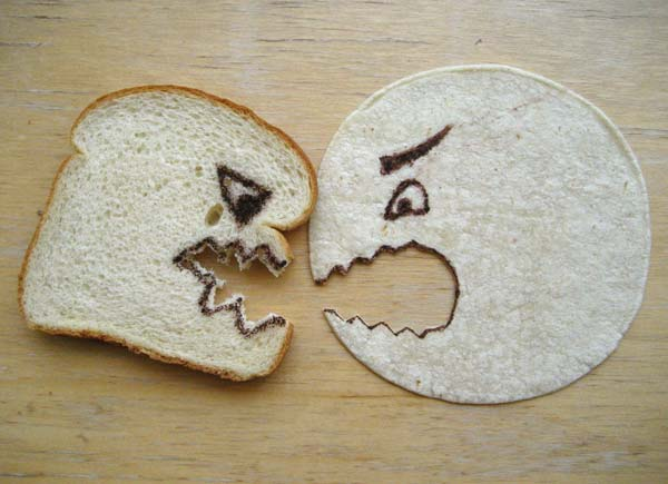 Tortilla vs. Bread Photo Credit: Jennifer Martin